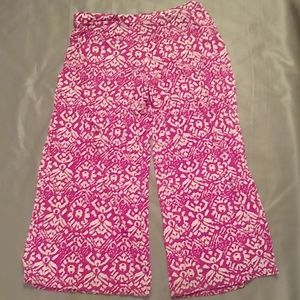 Lauren Ralph Lauren pink & white lounge pants
